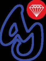 AJ logo outlined